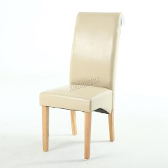 High Back Dining Chairs Monoblock Chair Covers For Rent Premium Faux Leather Roll Top Scroll