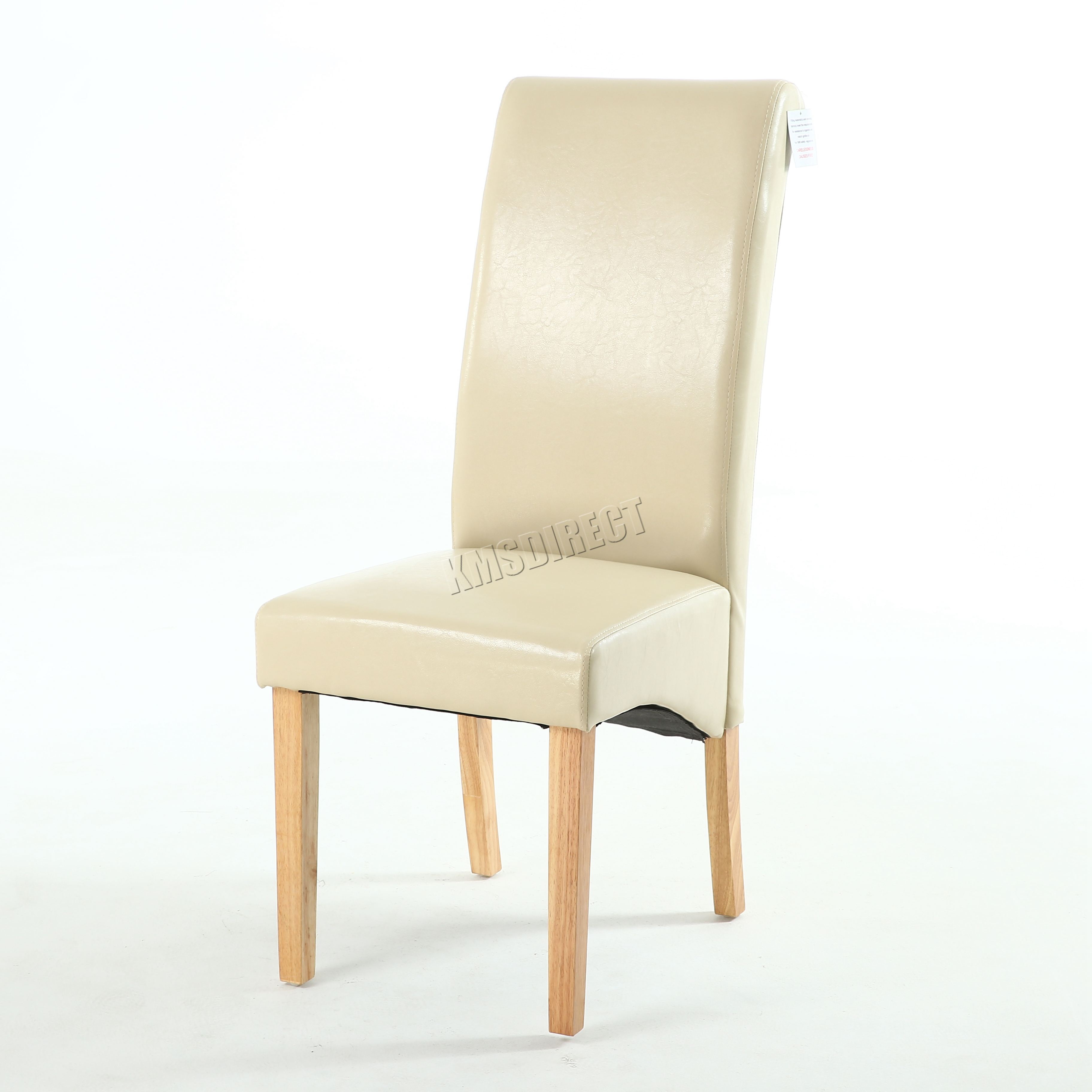 high back dining chairs chair covers premium faux leather roll top scroll