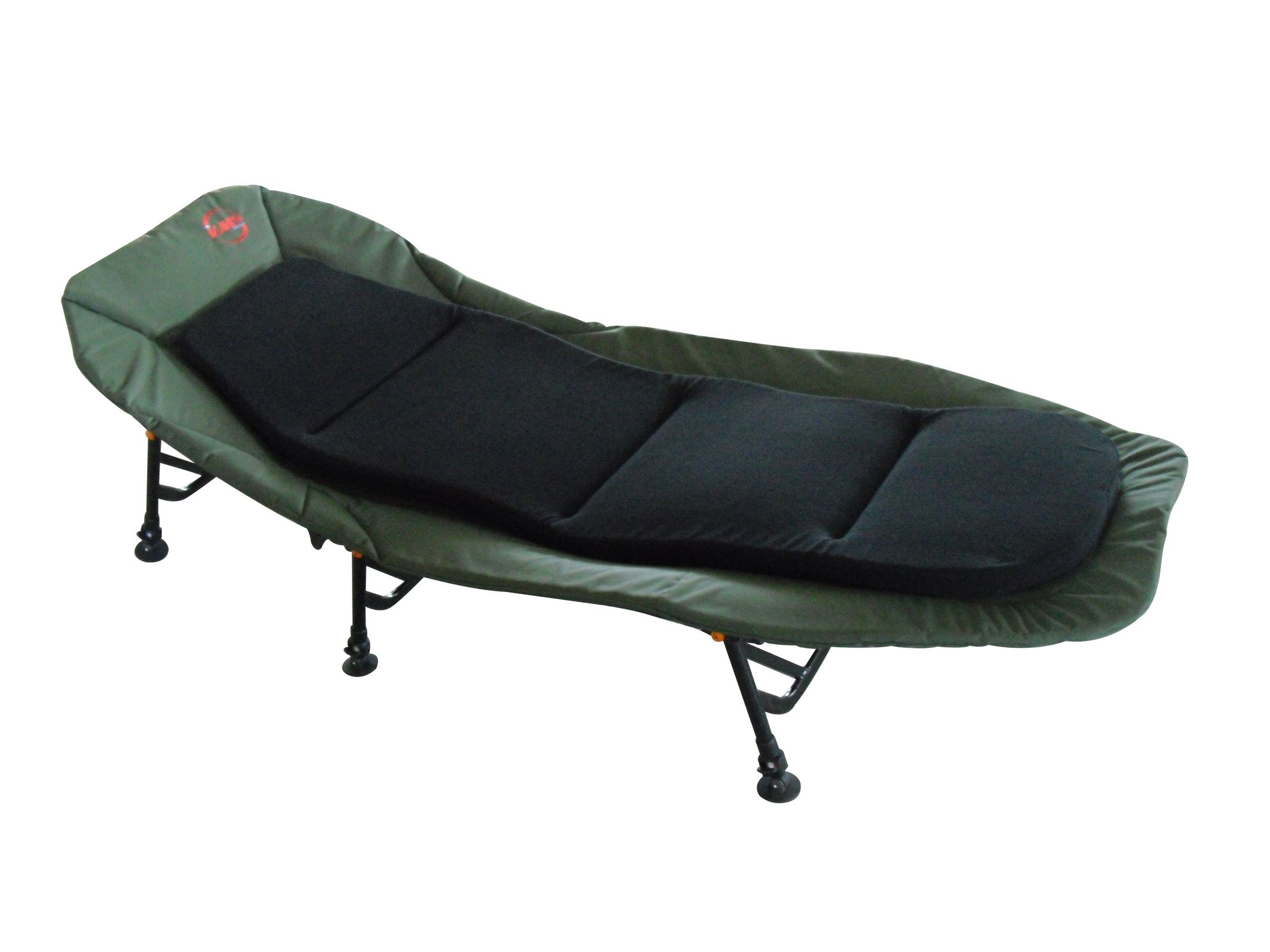 folding chair bed uk heavy duty industrial chairs fishing camping bedchair 6 adjustable legs inner