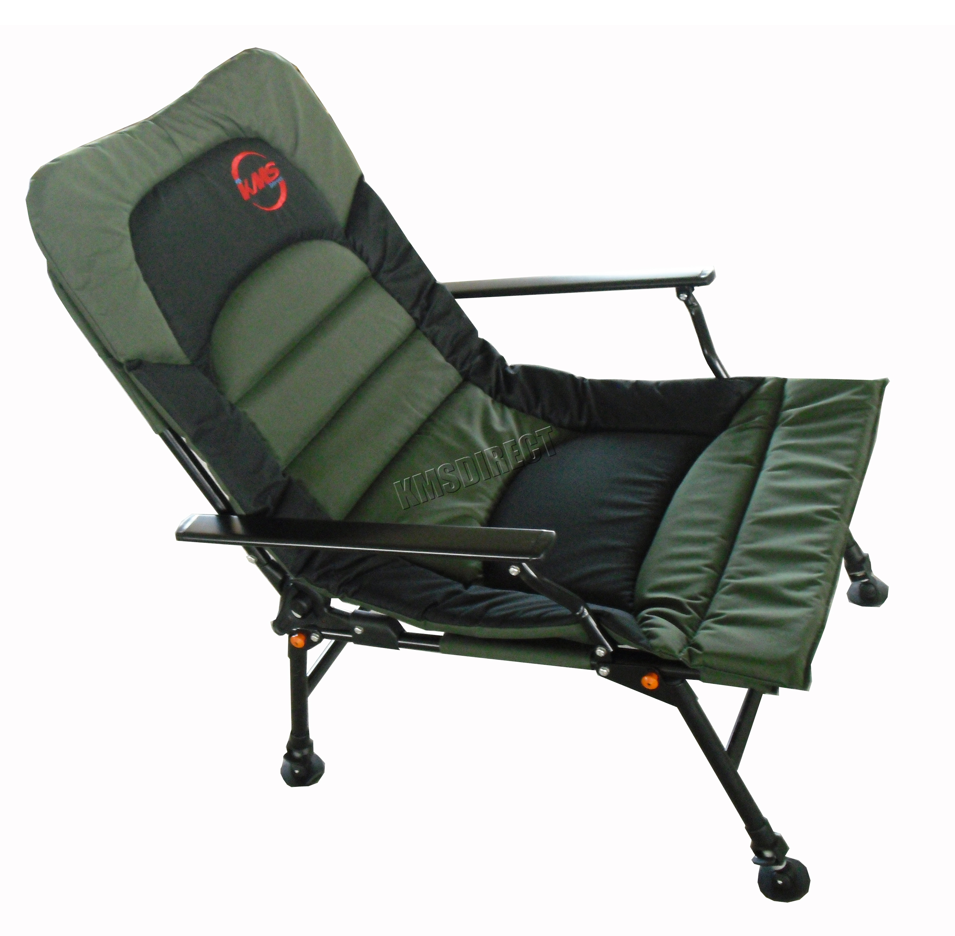 fishing chair no arms design miniature xl carp arm rests folding camping recliner 4