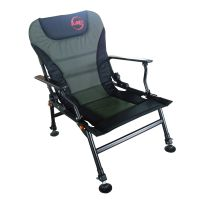 L Fishing Arm Rests Chair Folding Camping Recliner 4 ...