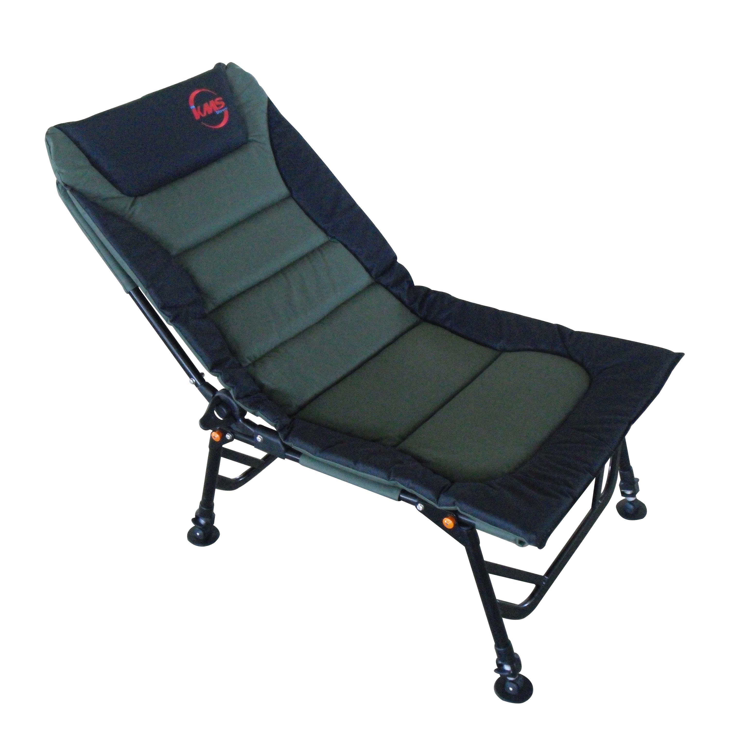 Dark Green Outdoor Folding Fishing Chair Camping Recliner
