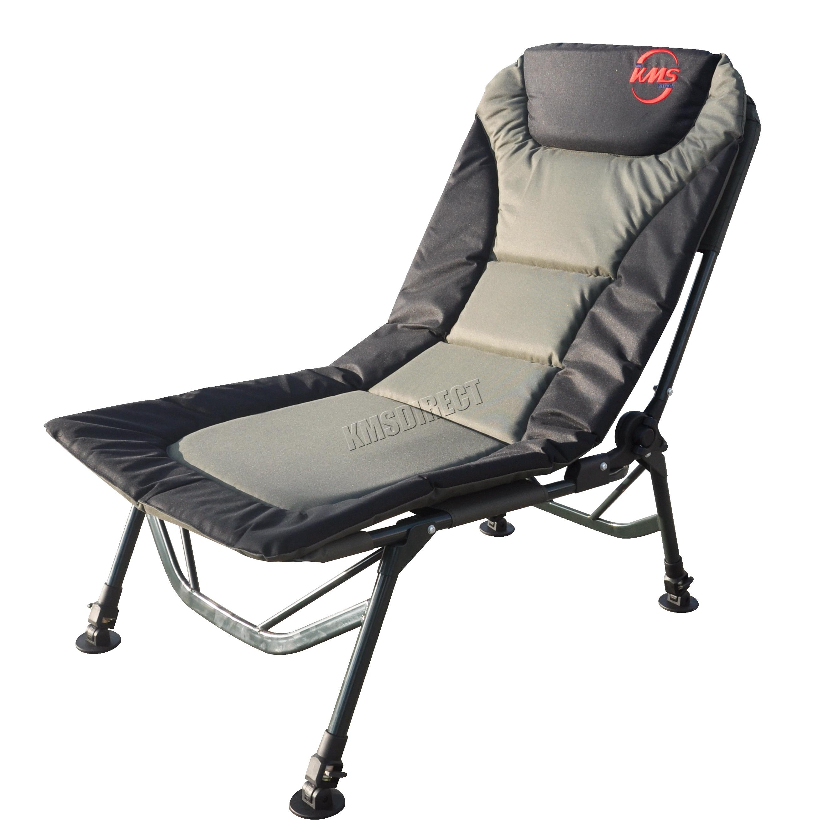 Dark Green Portable Folding Fishing Chair Camping Recliner