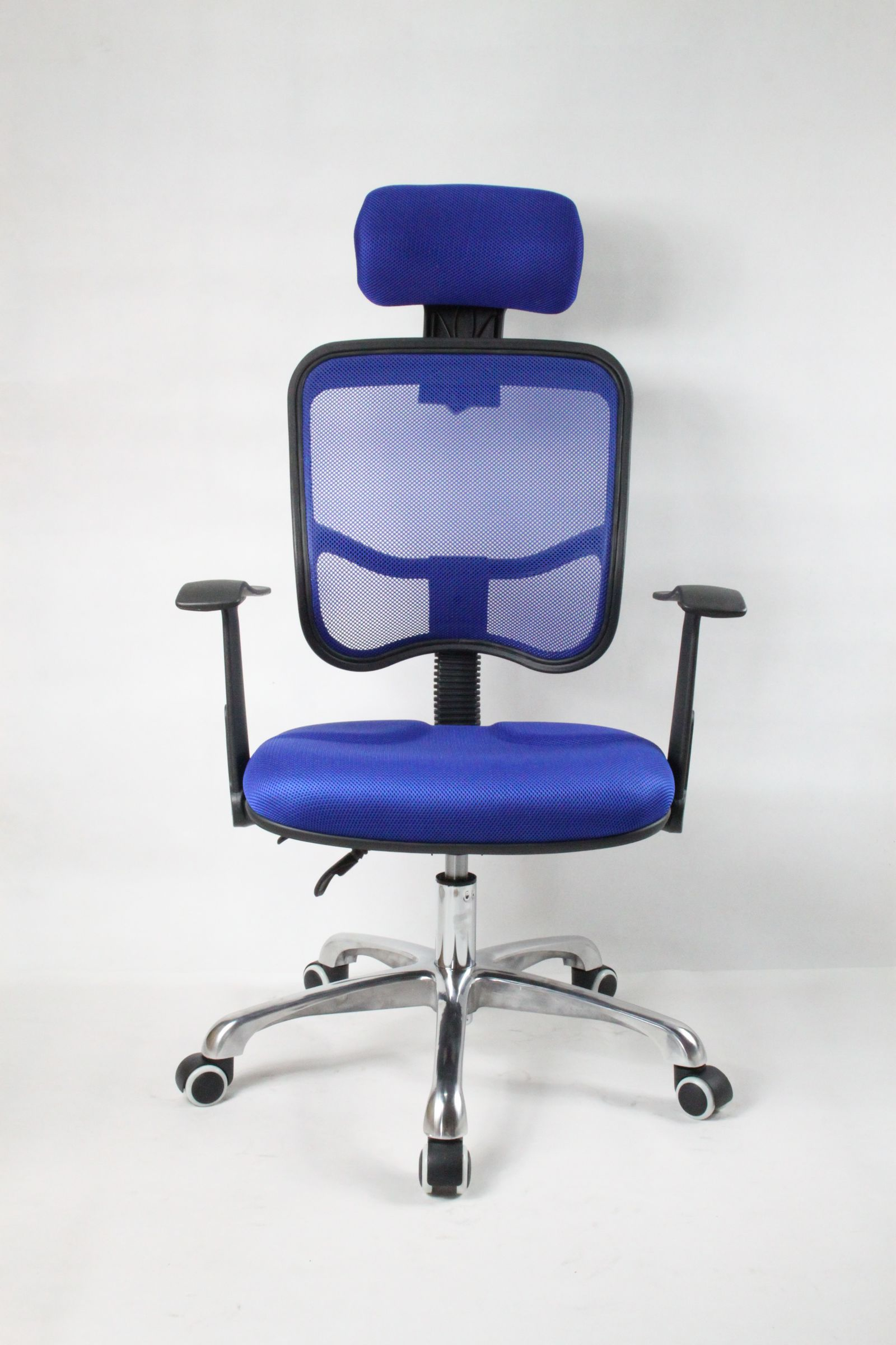 Blue Computer Chair Designer Adjustable Reclining Executive Office Computer