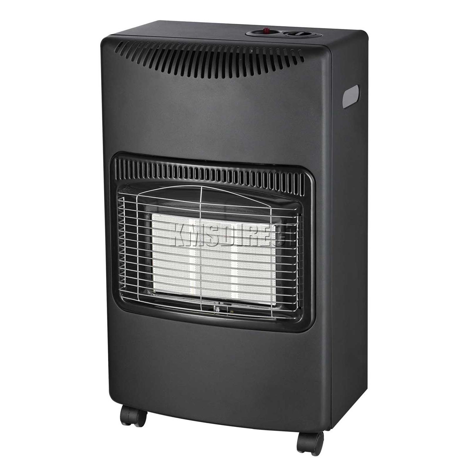 42Kw Portable Home Butane Fire Calor Gas Cabinet Heater With Regulator Hose New