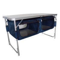 Folding Camping Kitchen Table Stand Picnic Cupboard ...