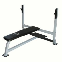 Gym Bench Press Chair Leather Swivel Rocker Flat Barbell For 7ft Olympic Standard Weight Bar
