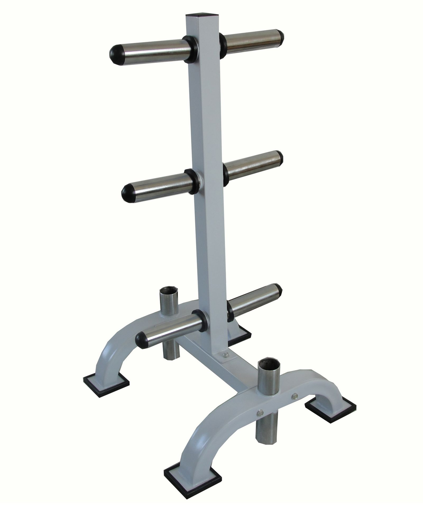 "1"" Standard 2"" Olympic Weight Plate Disc Bar Rack Tree"