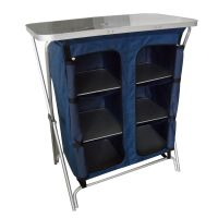 FoxHunter Folding Camping Kitchen Table 6 Rooms Cupboard ...