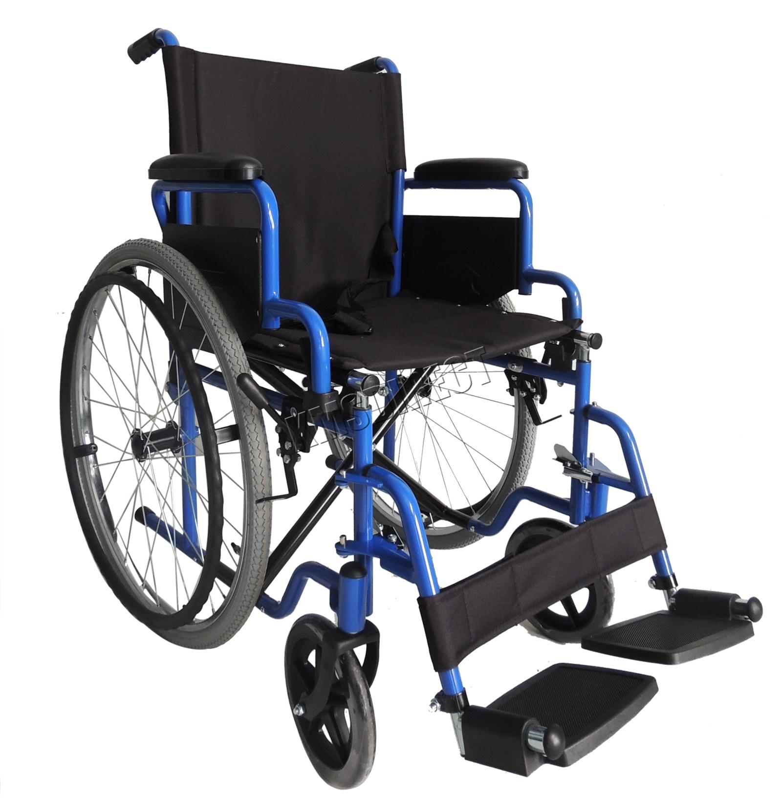 wheelchair manual bedroom chair ebay australia foxhunter blue self propelled folding lightweight transit