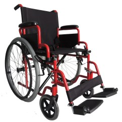 Wheelchair Ebay Bedroom Chair No Arms Foxhunter Red Self Propelled Folding Lightweight Transit
