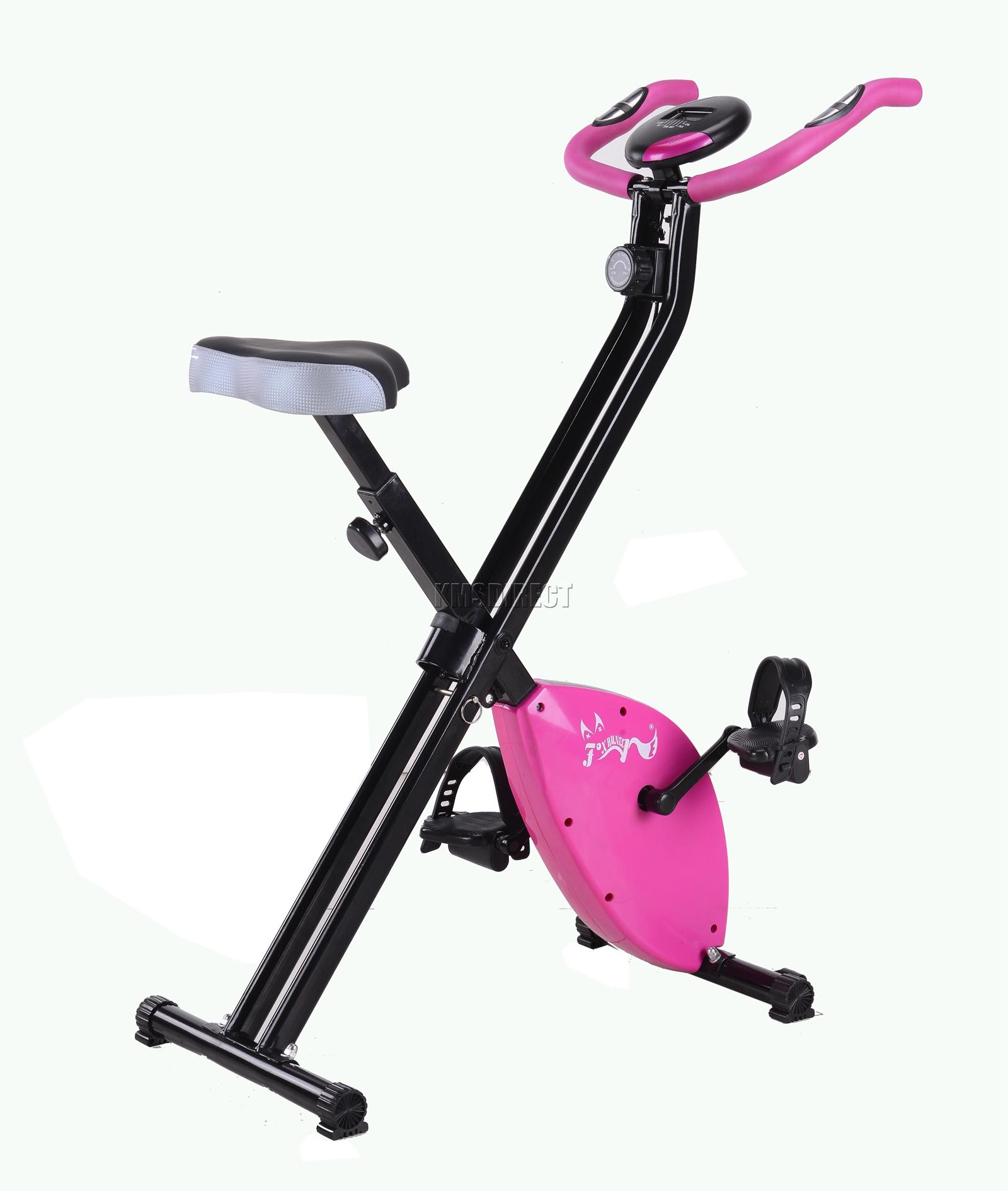FoxHunter Exercise Bike Folding Magnetic X-Bike Cardio ...