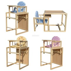 Wooden High Chair Cushion Reclining Patio Chairs Foxhunter Baby Highchair Feeding Seat Table