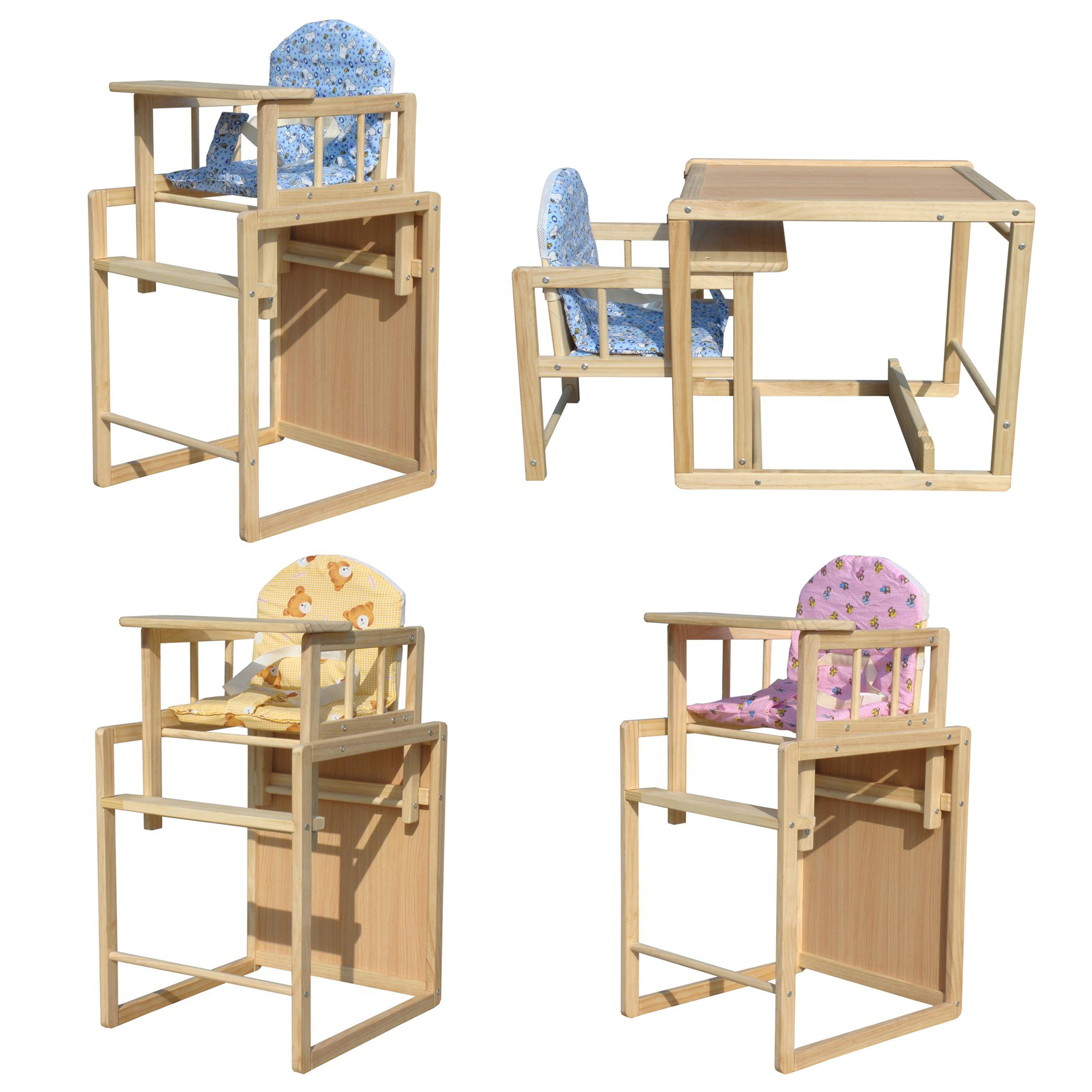 Wooden Baby High Chair Table High Chair