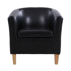 Tub Chair Covers Ebay Tallaght Foxhunter Black Faux Leather Armchair Dining