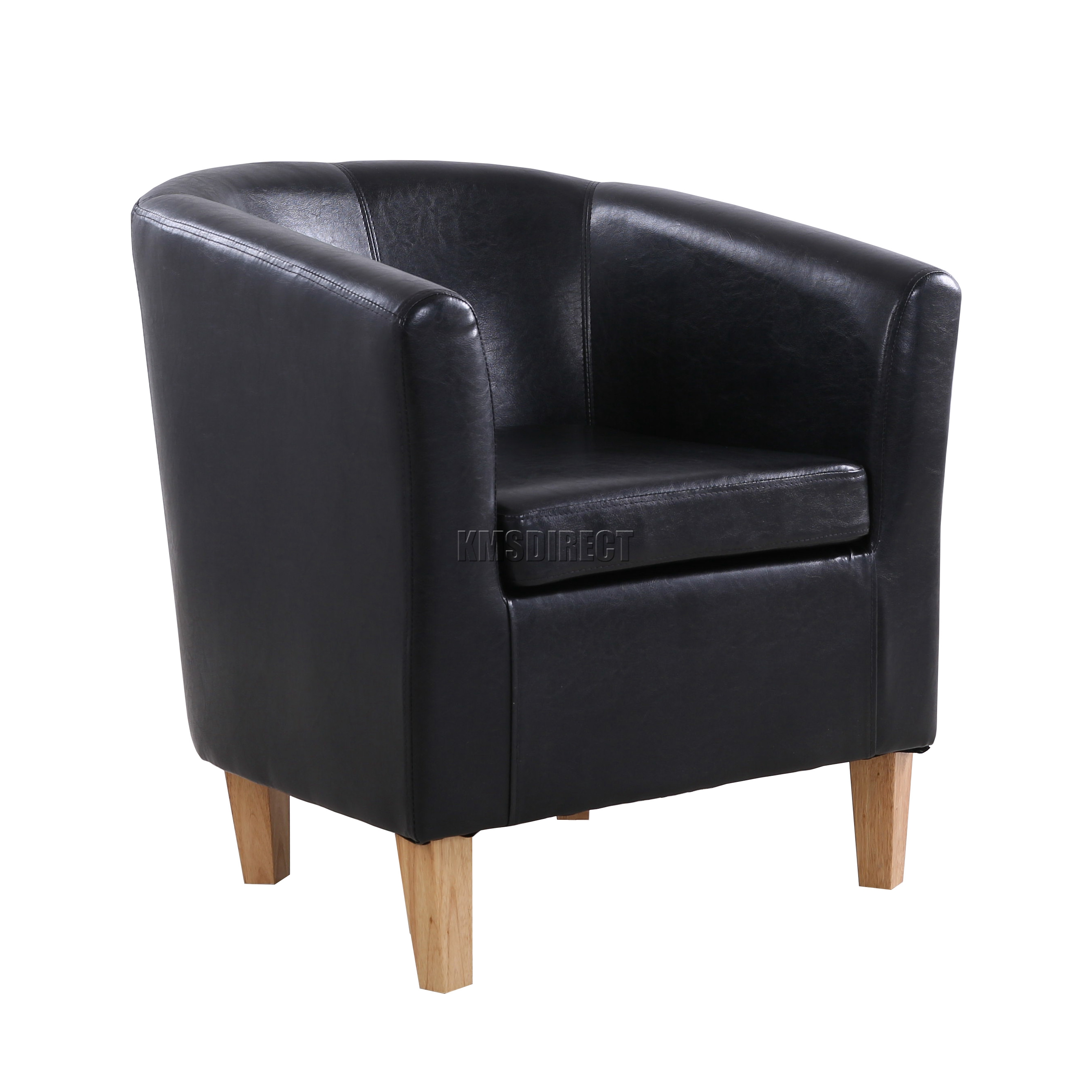 leather tub chair 3 position full recline lift foxhunter black faux armchair dining
