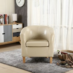 Next Day Sofas Customer Reviews Sofa Fabric Online Foxhunter Ivory Faux Leather Tub Chair Armchair Dining