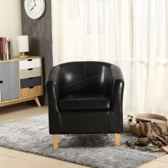 Tub Chair Covers Ebay Wicker Chairs Nz Foxhunter Faux Leather Pu Armchair Dining Room
