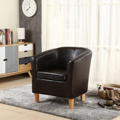 Tub Chair Covers Ebay Crazy Bean Bag Chairs Foxhunter Faux Leather Pu Armchair Dining Room
