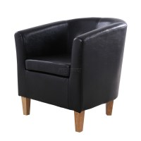 FoxHunter Faux Leather PU Tub Chair Armchair Dining Room ...
