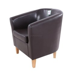 Tub Chair Covers Ebay Desk No Rollers Foxhunter Faux Leather Pu Armchair Dining Room