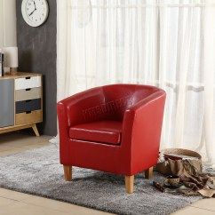 Tub Chair Covers Ebay Seat For Office Chairs Foxhunter Armchair Faux Leather Dining Room
