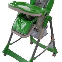 Height Adjustable High Chair Baby Swivel Recliner Real Leather Recline Highchair