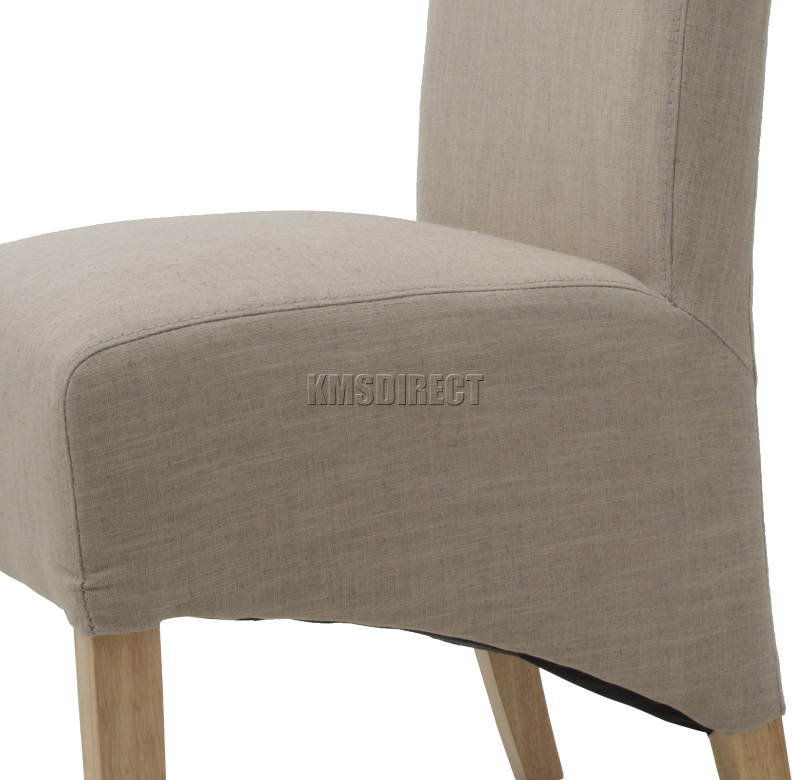 dining chair seat cover material white covers bulk foxhunter cream linen fabric chairs scroll high