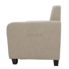 Tub Chair Covers Ebay Ivory Spandex Rent Foxhunter Linen Fabric Armchair Dining Living