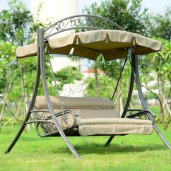 Patio Hanging Chair Back Covers Australia Foxhunter Garden Metal Swing Hammock 3 Seater Bench