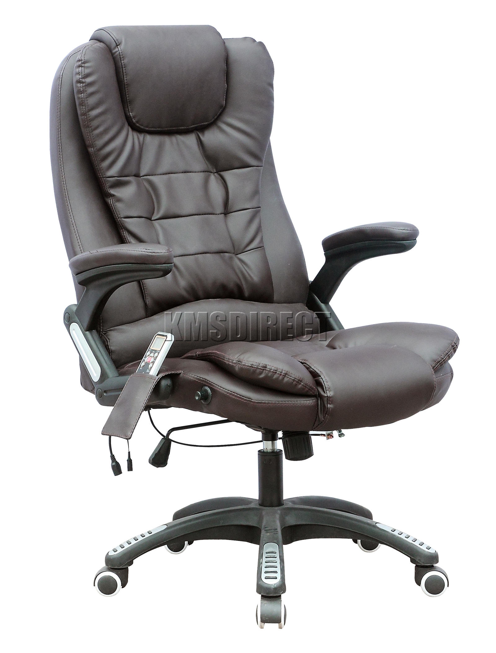 Brown Computer Chair Foxhunter 8025 Leather 6 Point Massage Office Computer