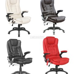 Best Office Massage Chair Dunelm Garden Covers Foxhunter 8025 Leather 6 Point Computer