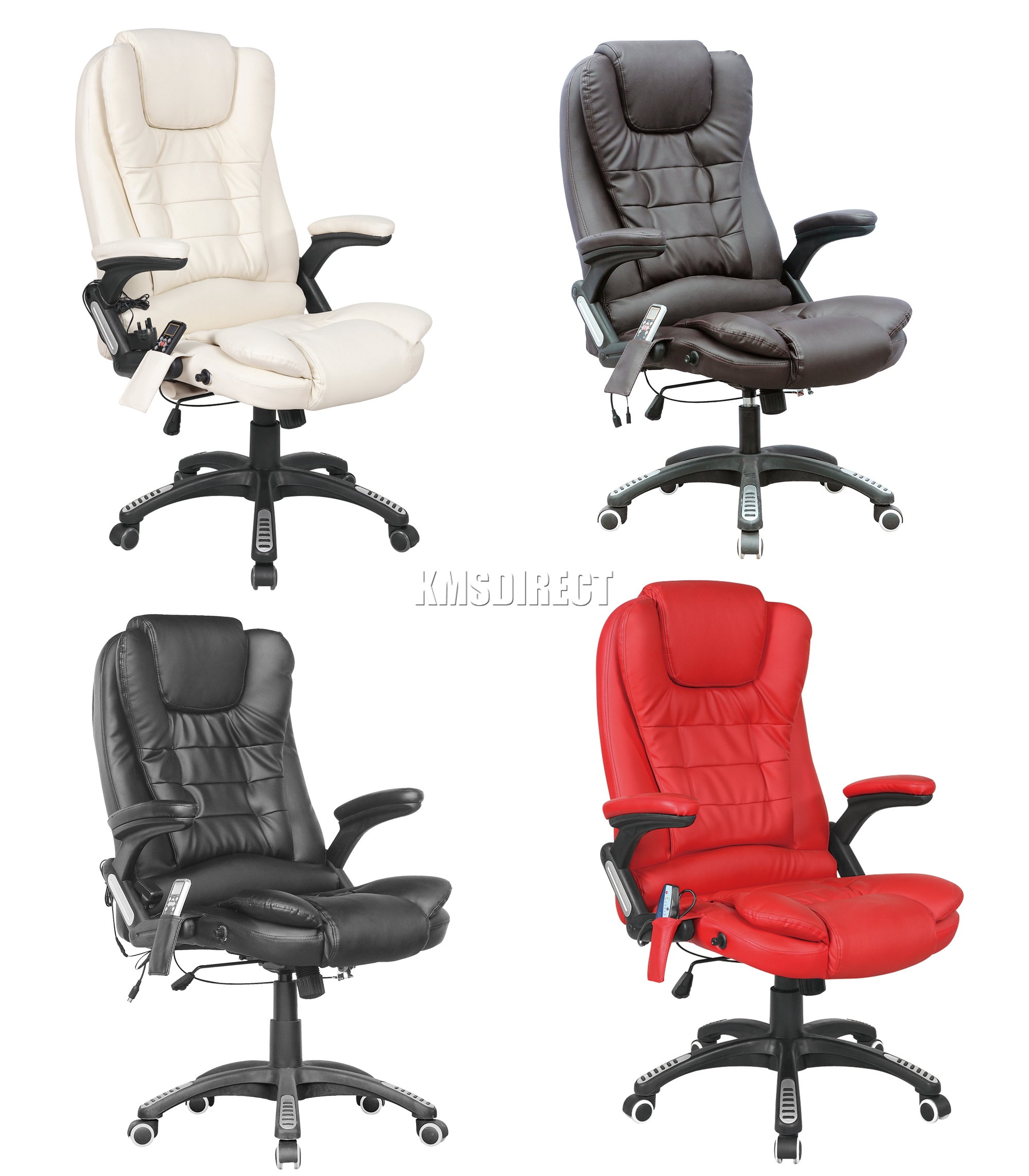 Office Chair Massager Details About Foxhunter 8025 Leather 6 Point Massage Office Computer Chair Reclining Swivel