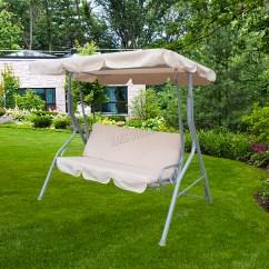 Swing Chair Metal Best Outdoor Folding Foxhunter Garden Hammock 3 Seater Bench