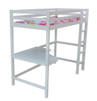 FoxHunter High Sleeper Cabin Wooden Bunk Bed With Desk ...