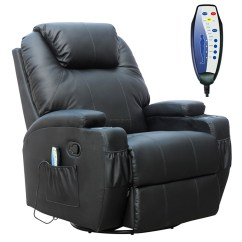 Recliner Massage Chair Wood Desk Foxhunter Bonded Leather Sofa