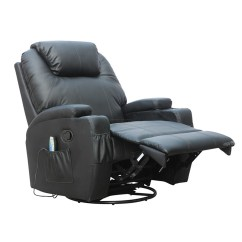 Sofa Rocking Chair Holly Corner Foxhunter Bonded Leather Massage Recliner