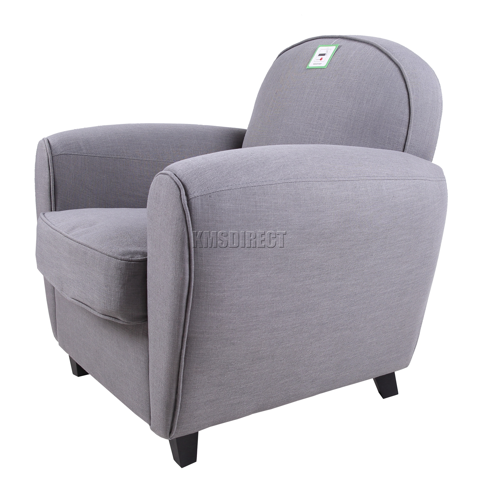 tub chair covers ebay modern brown leather desk foxhunter linen fabric armchair 2094 sofa dining