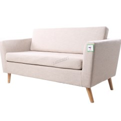 Linen Bench Cushion Sofa Double Chaise Canada Foxhunter Fabric 2 Seat Settee Dining Room