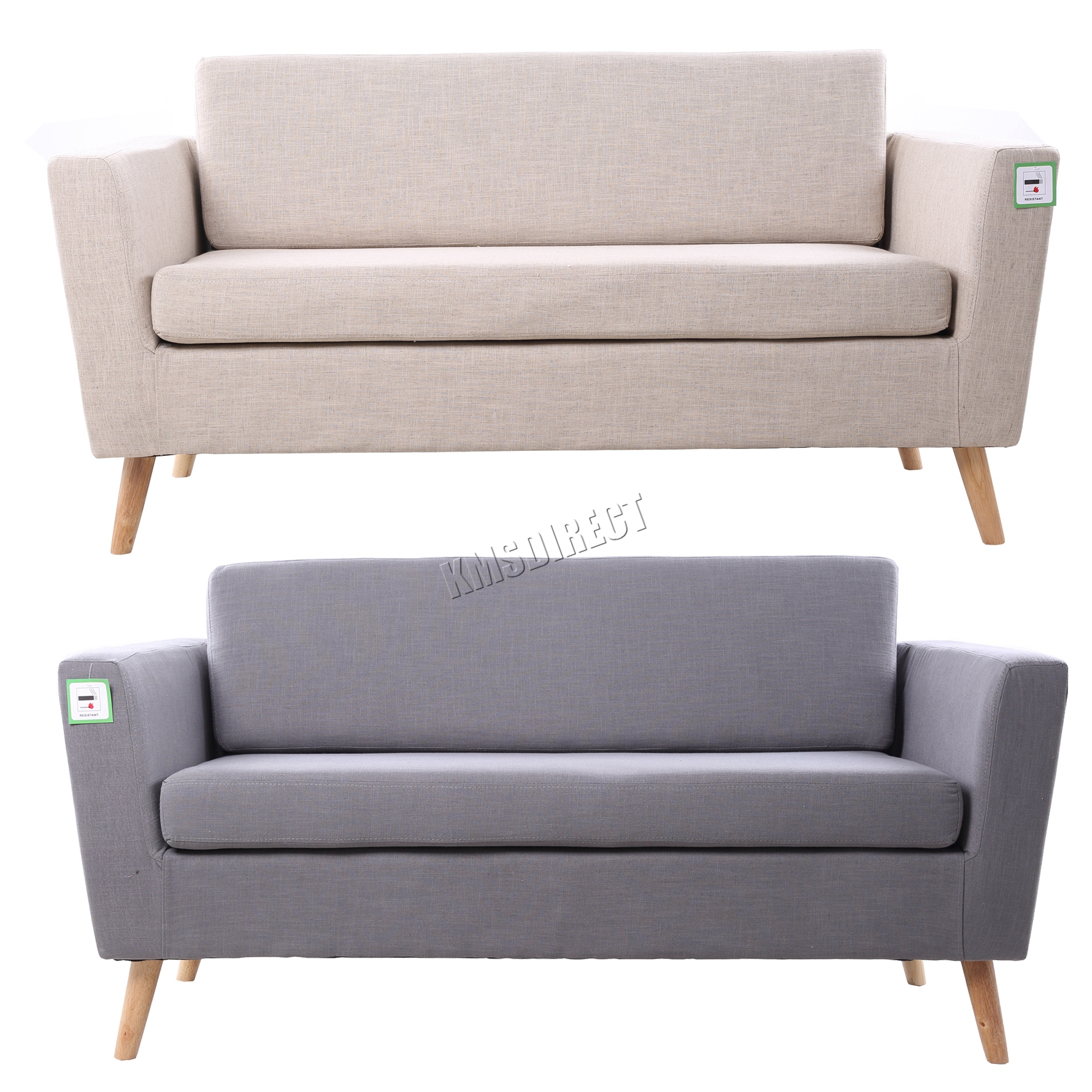 linen bench cushion sofa single chair sale foxhunter fabric 2 seat settee dining room