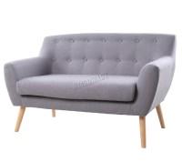 FoxHunter Linen Fabric 2 Seat Sofa Settee Dining Room ...