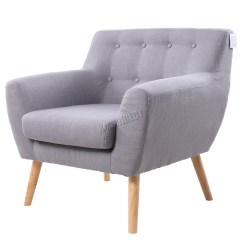 Wellness By Design Chair Uk Queen Anne Dining Foxhunter Linen Fabric 1 Single Seat Sofa Tub Arm
