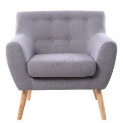 One Seater Sofa Chair Broyhill Laramie And Loveseat Set Brown Foxhunter Linen Fabric 1 Single Seat Tub Arm