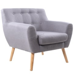 One Sofa Seat Grey For Sale Foxhunter Linen Fabric 1 Single Tub Arm Chair