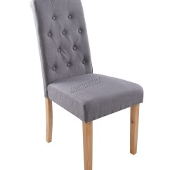 Fabric Dining Chairs Lycra Chair Covers For Sale Australia Foxhunter Grey Linen Scroll High Back