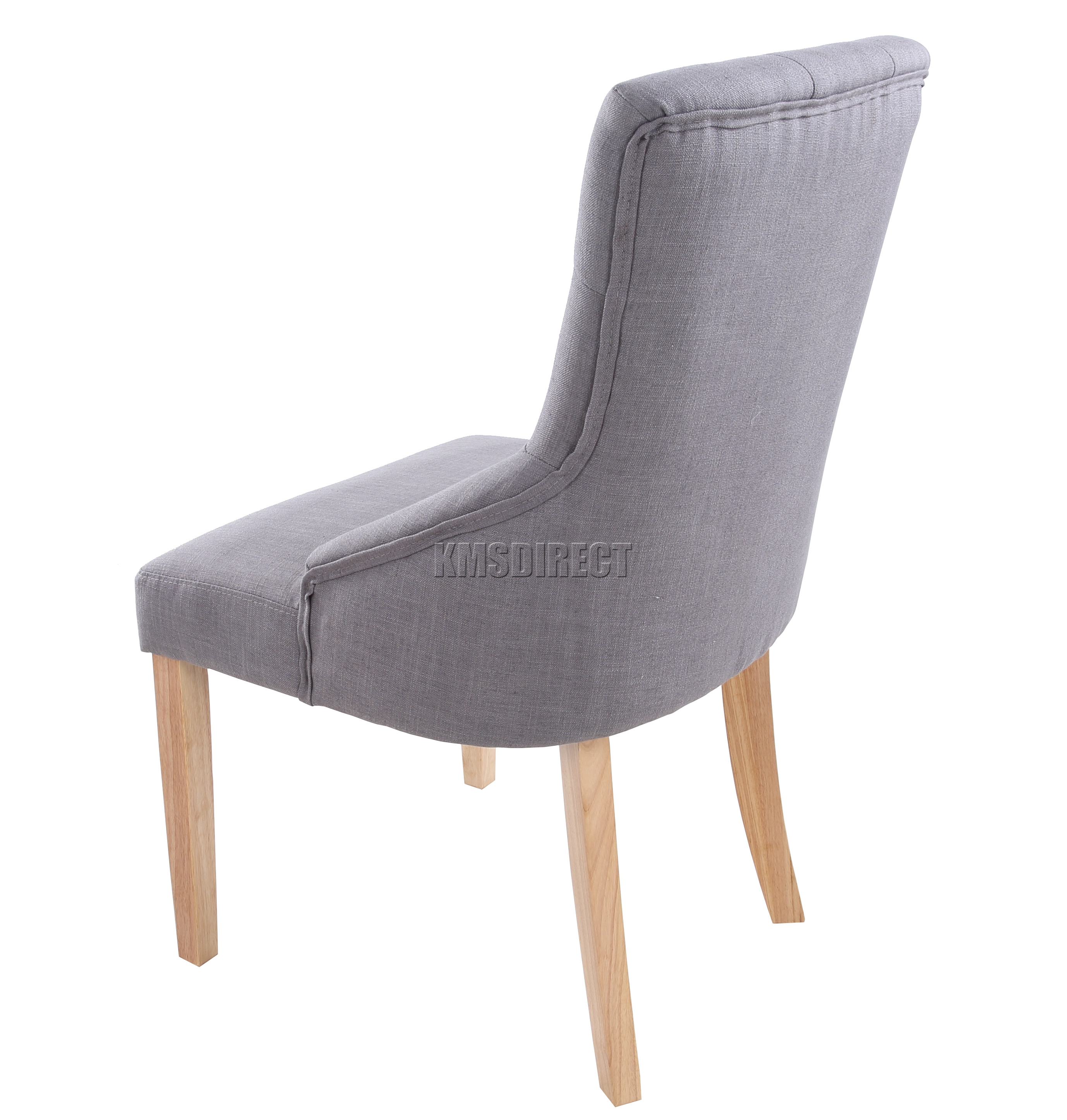scoop back dining room chairs graco girl high chair foxhunter new grey linen fabric button