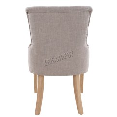 Scoop Back Dining Room Chairs Electric Chair For Stairs In India Foxhunter New Linen Fabric Button
