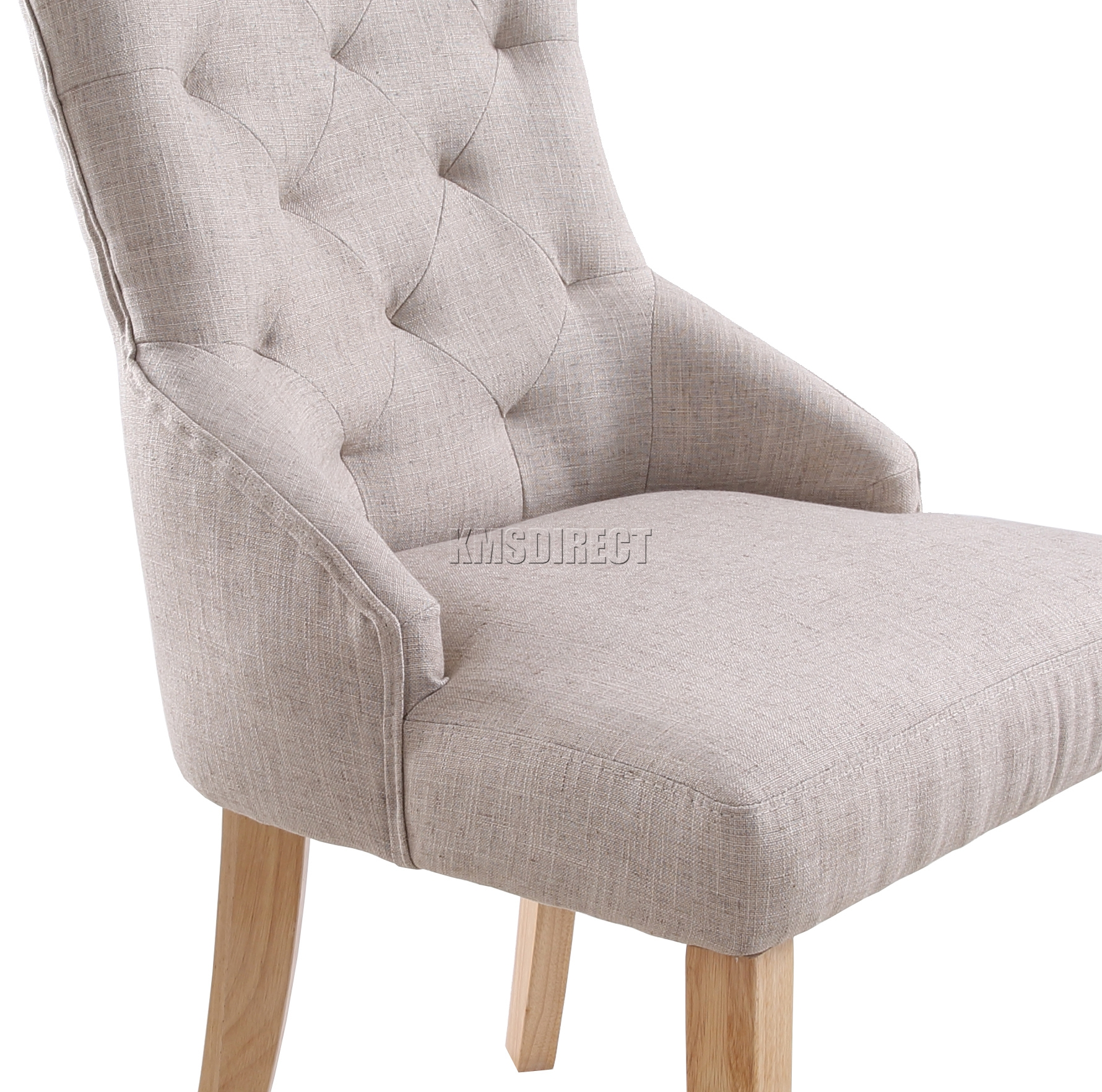 Linen Tufted Dining Chairs Foxhunter New Cream Linen Fabric Dining Chairs Scoop