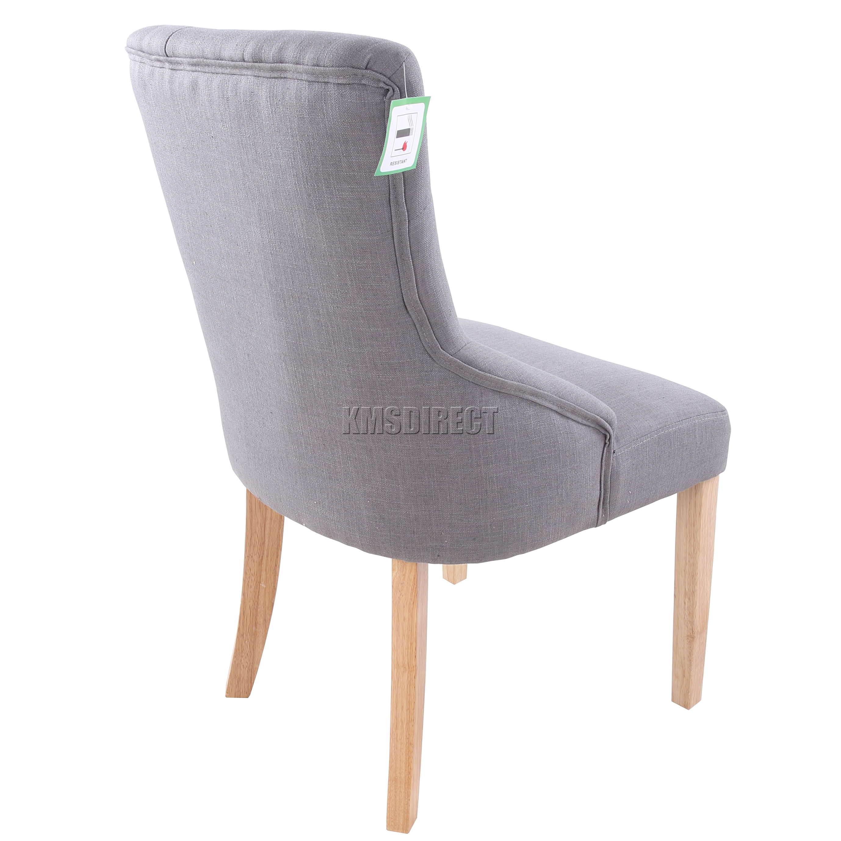 scoop back dining room chairs serta puresoft executive massage chair foxhunter new grey linen fabric tufted