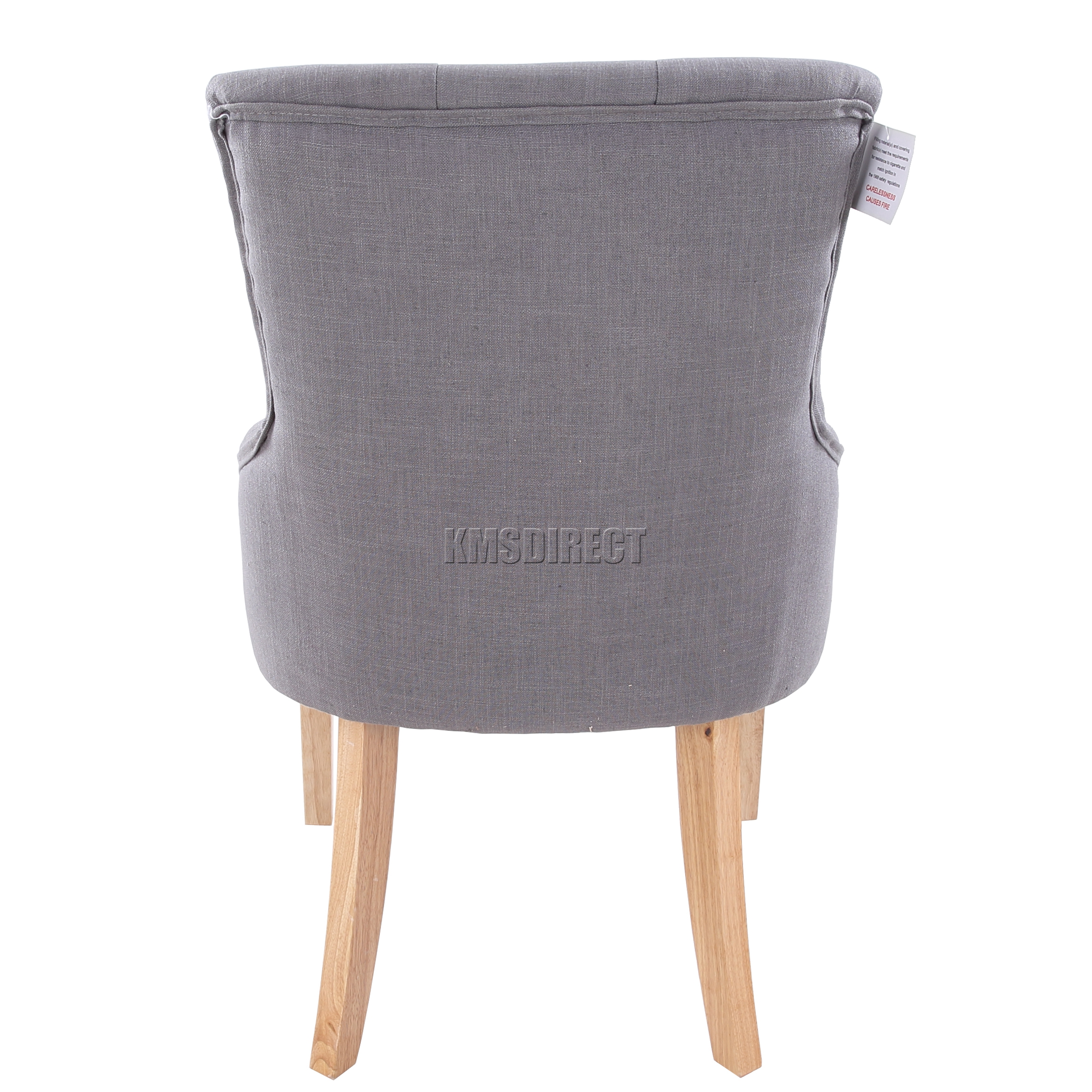 grey material office chair computer headrest foxhunter new linen fabric dining chairs scoop tufted